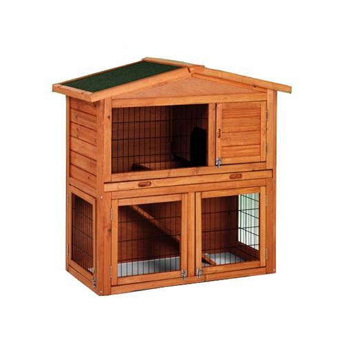 Caseta de madera con dos pisos para conejos - Casa conejo ...