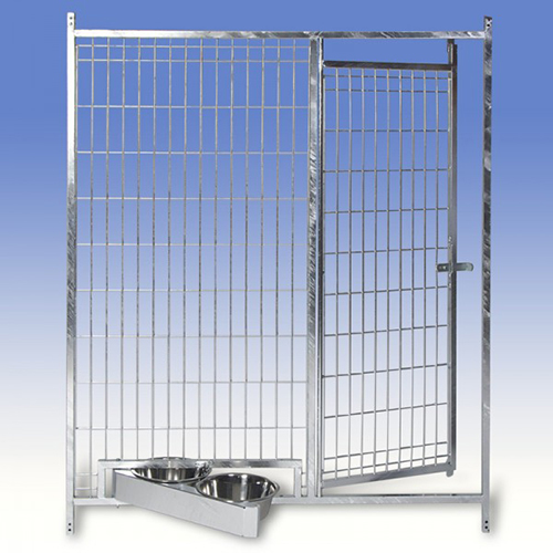 Frontal para jaula exterior fabricada en malla con for Puerta para perros